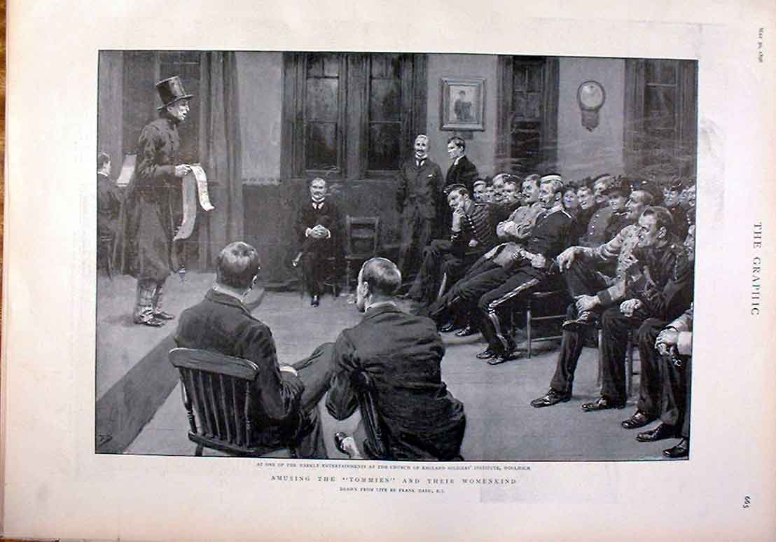 [Print C E O Institute Woolwich Amusing Tommies & Womenkind 18 65Bbb0 Old Original]