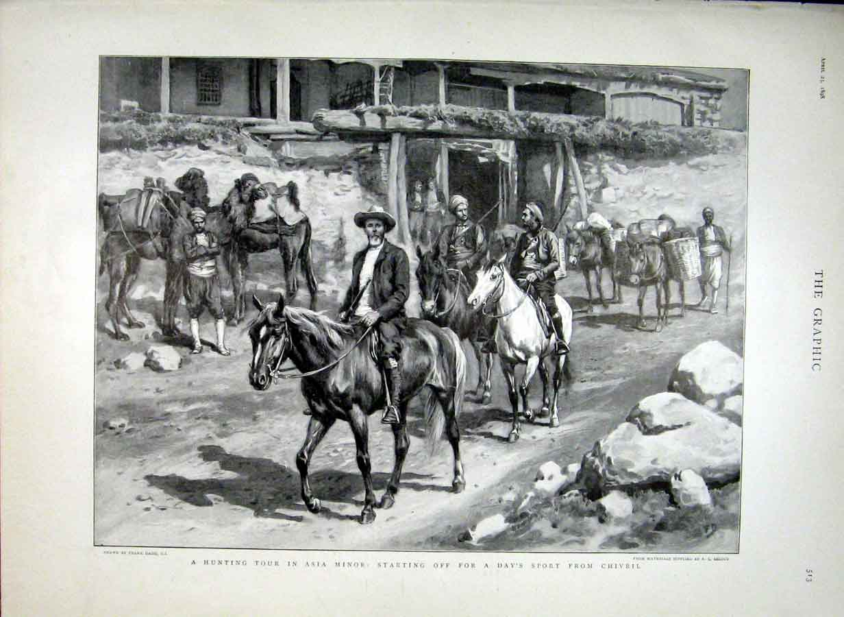Print Hunting Tour Asia Minor Starting Frm Chivril 1898 13Bbb0 Old Original