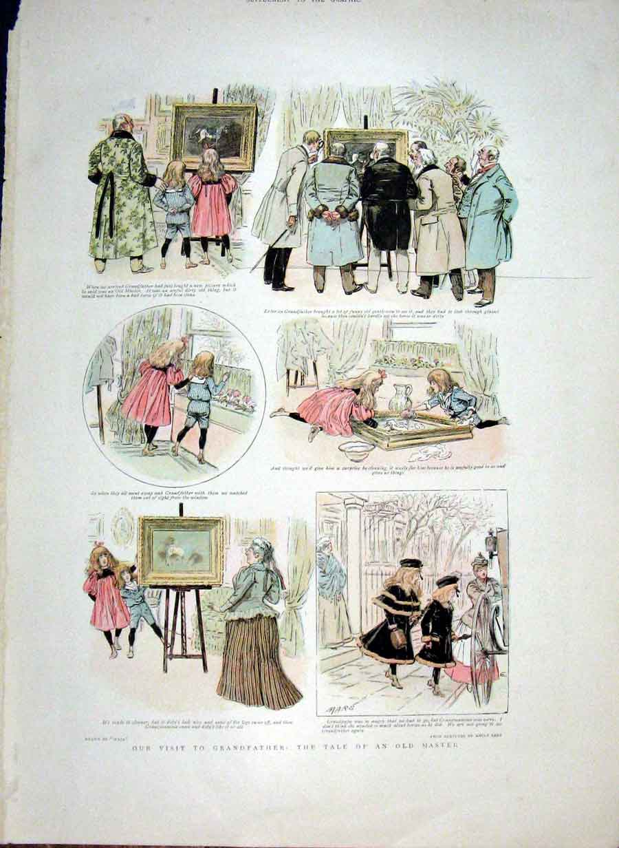 Print Visit To Grandfather Tale An Master 1898 22Bbb0 Old Original