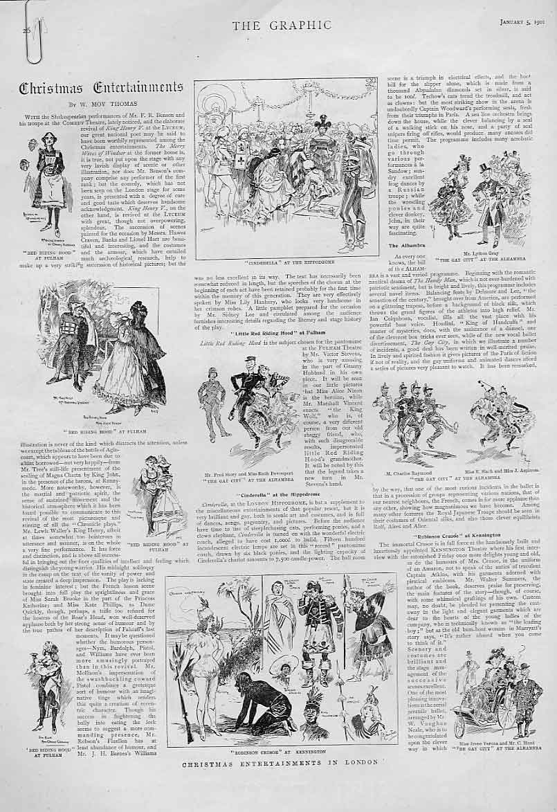 Print Christmas Entertainments By Moy Thomas 1901 26Abbb0 Old Original