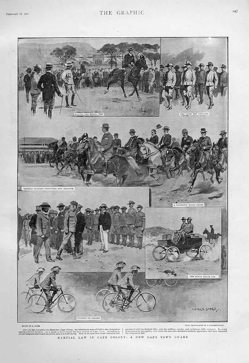 Print Martial Law Africa New Cape Town Guard 1901 47Bbb0 Old Original