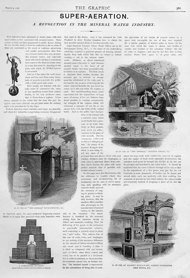 Print Mineral Water Aeration 1901 Advertisment 61Bbb0 Old Original