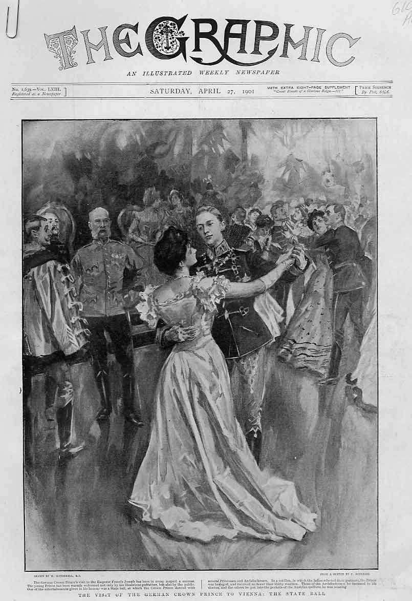 Print Visit German Crown Princ To Vienna Austrai 1901 10Abbb0 Old Original