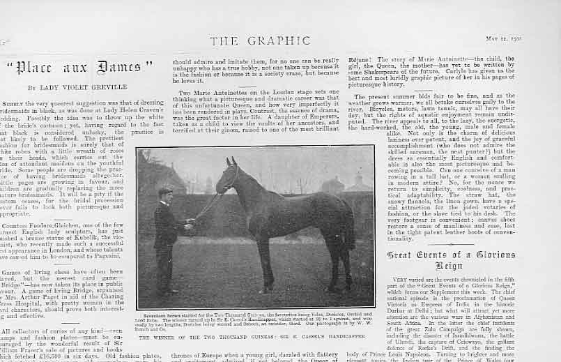 Print Winner 2000 Gns Handicapper 1901 Horse Racing 58Bbb0 Old Original