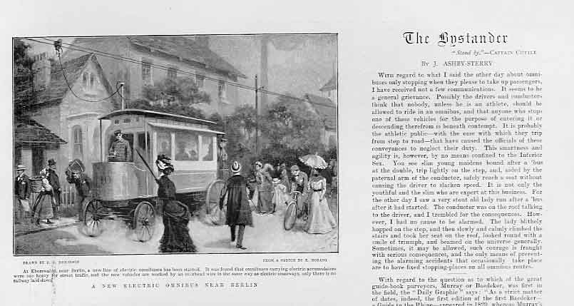 Print Electric Omnibus Berlin 1901 Germany 37Bbb0 Old Original
