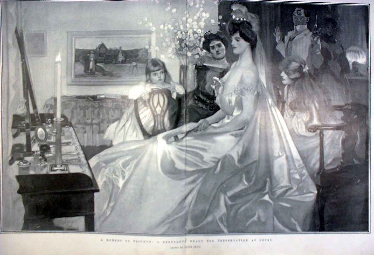 Print Triumph A Debutante Ready For Presentation At Court 190 97Tbbb0 Old Original