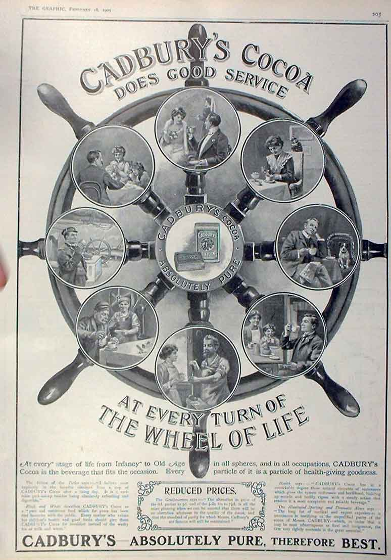 Print Every Turn Wheel Cadbury'S Cocoa Does Good Service 1 05Bbb0 Old Original