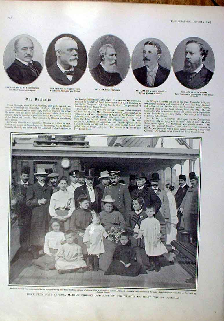 Print Madame Stoessell Home From Port Arthur 1905 48Bbb0 Old Original