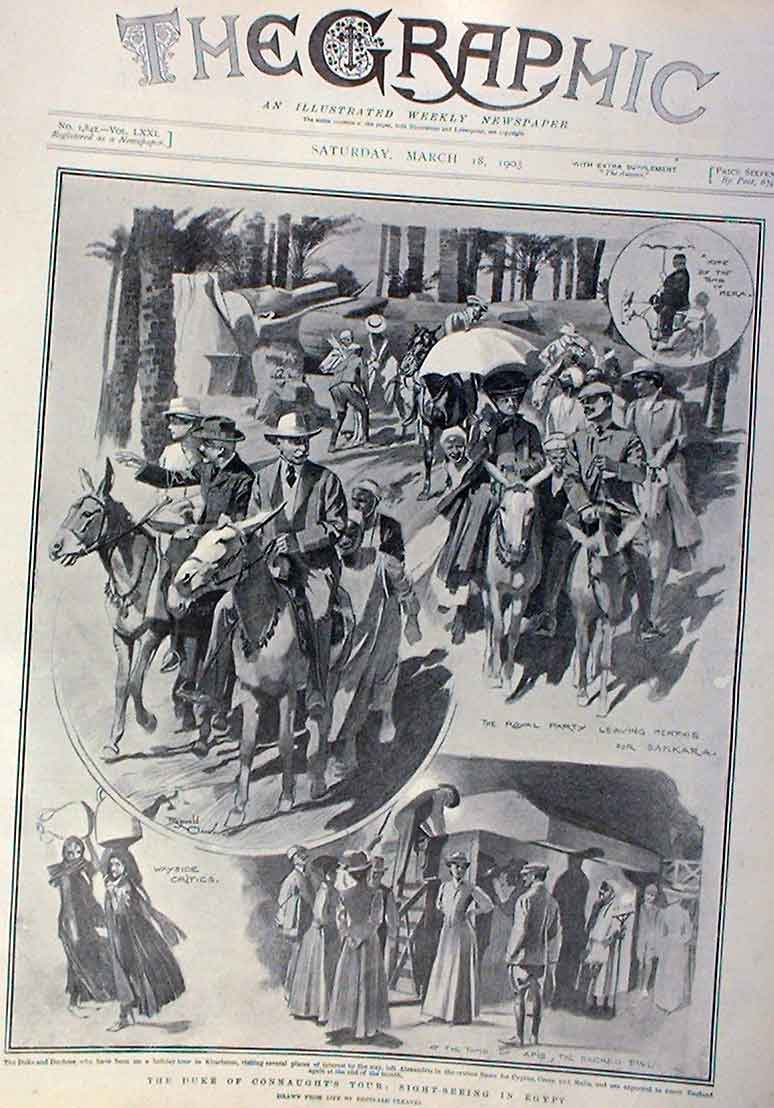 Print Party Braves In Motor Car 1905 New Lanchester 02Bbb0 Old Original