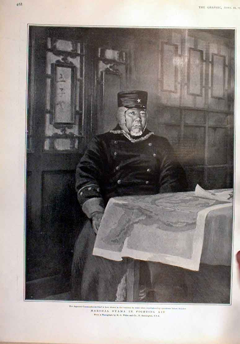 [Print Japanese Marshal Oyama In Fighting Kit 1905 68Bbb0 Old Original]