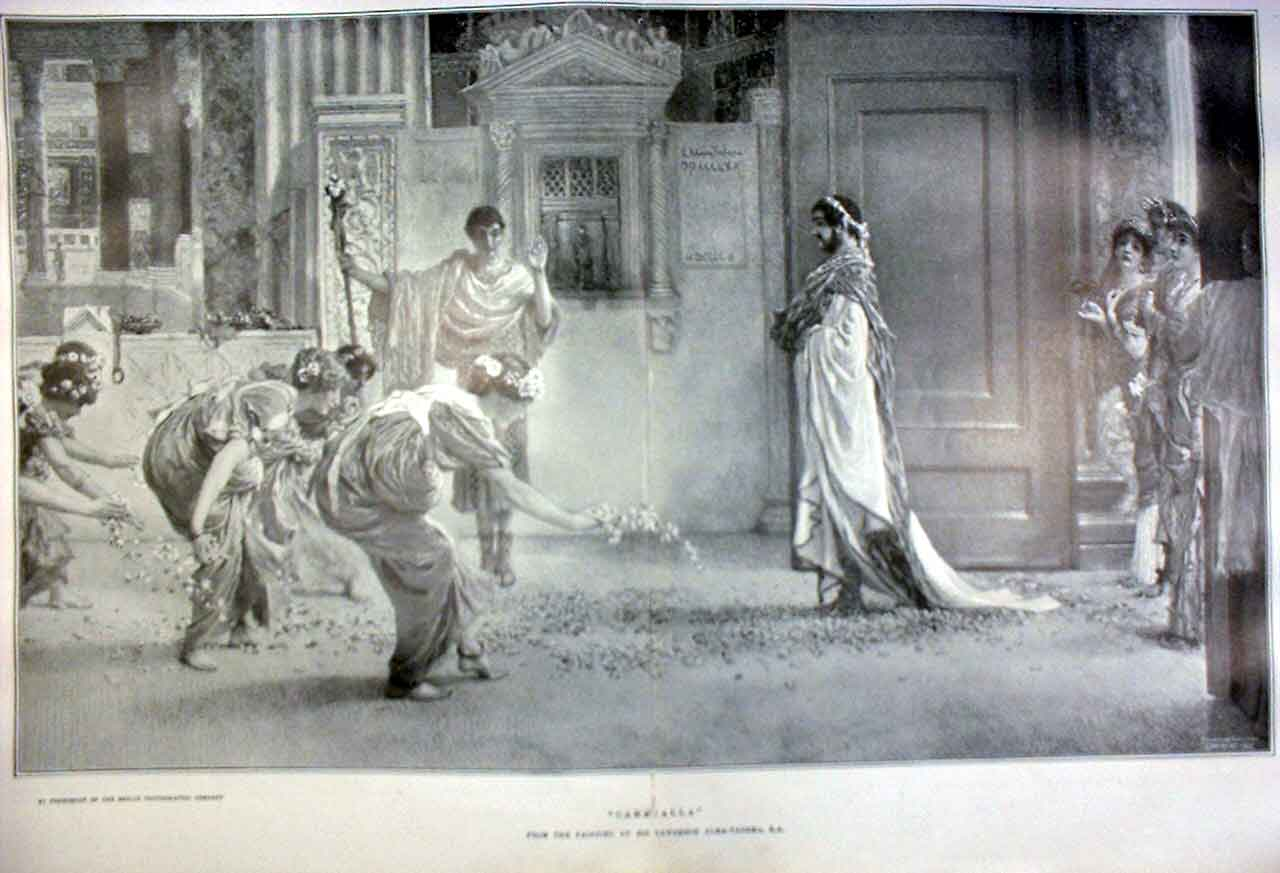 [Print Caracalla By Alma Tadema Fine Art 1905 73Tbbb0 Old Original]