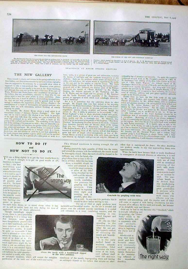 Print Epsom Spring Meeting 1905 Horse Racing 34Bbb0 Old Original