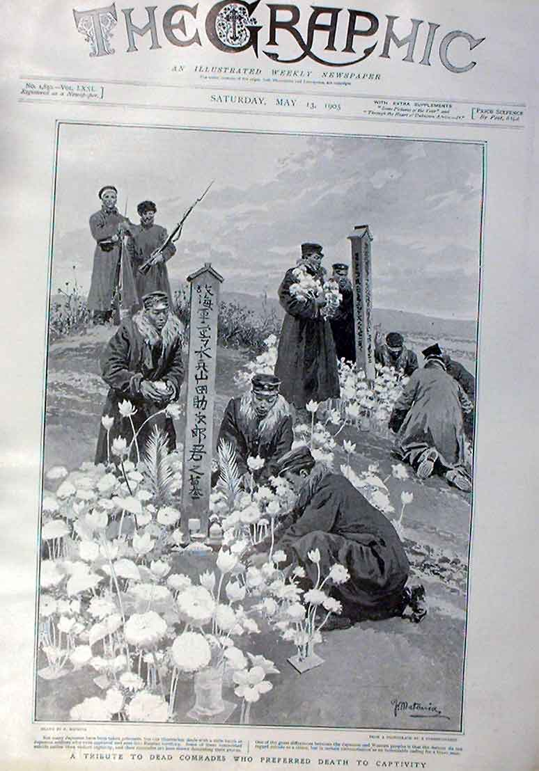 Print Tribute Japanese Who Preferred Death To Captivity 1905 48Bbb0 Old Original