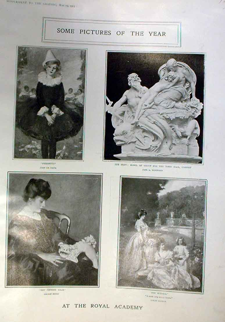 Print 15 Royal Academy Pictures 1905 26Abbb0 Old Original