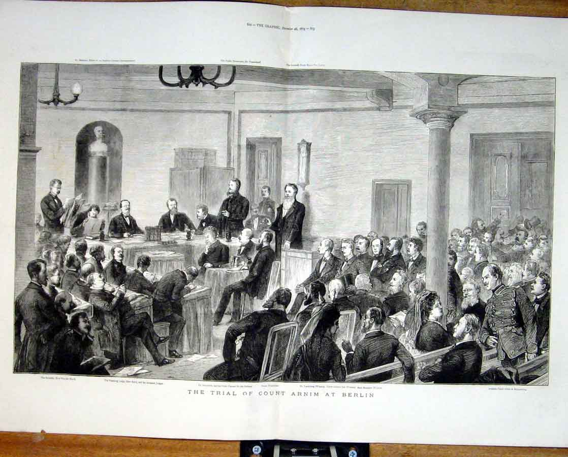 Print Trial Count Aenim At Berlin 1874 Germany 11Tbbb1 Old Original
