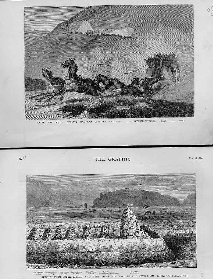 Print After S Africa Campaign Return To Peitermaritz 1880 05Lbbb1 Old Original