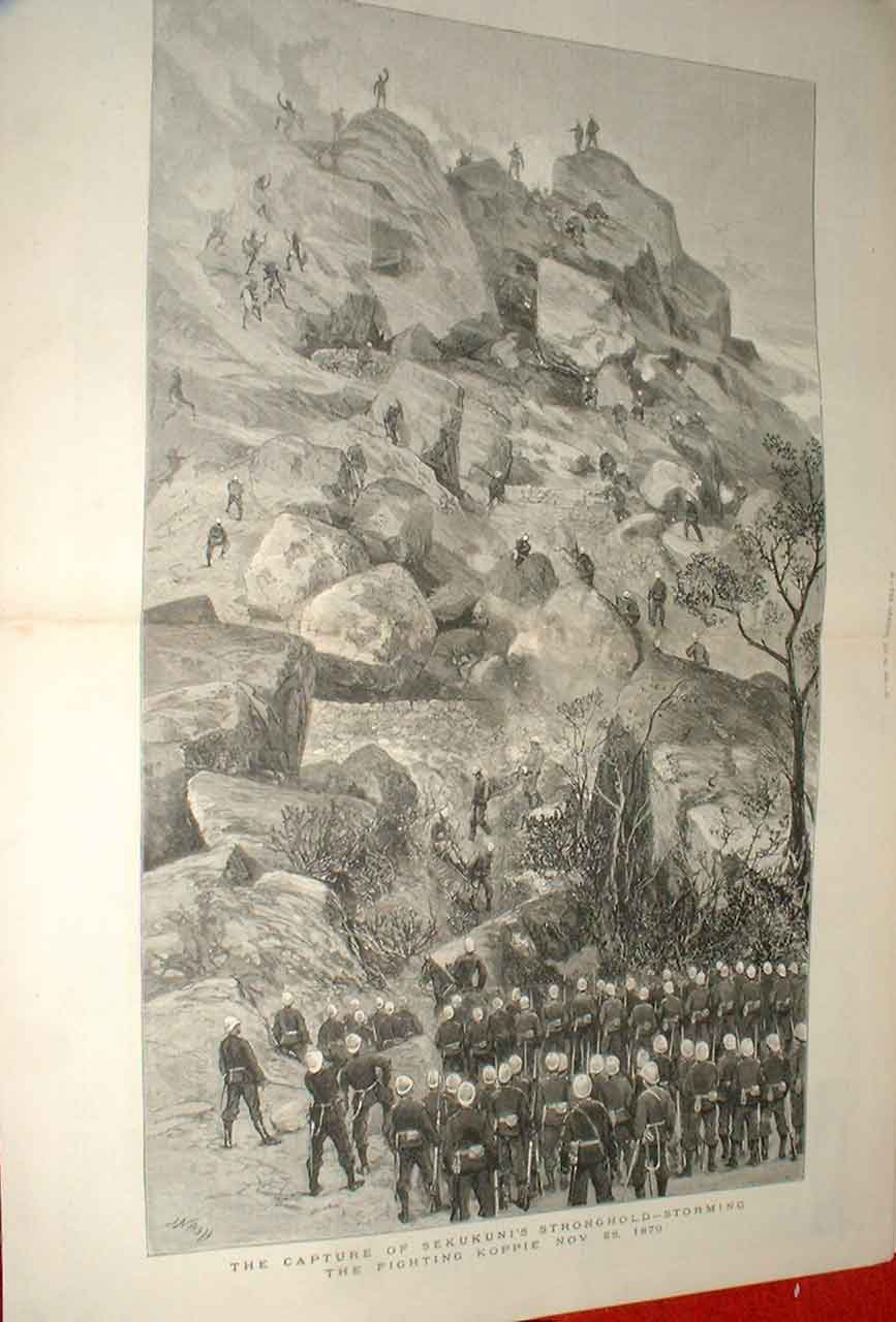 Print Capture Sekukuni'S Strongh1880 S. Africa 87Tbbb1 Old Original