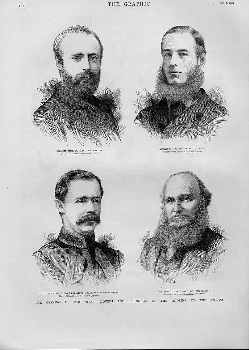 Print Hillier Parsons Moray Corry Movers Seconders 1880 32Bbb1 Old Original