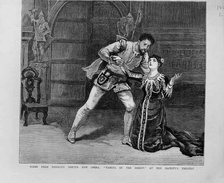 Print Taming Shrew At Her Majesty'S Theatre 1880 Opera 40Lbbb1 Old Original