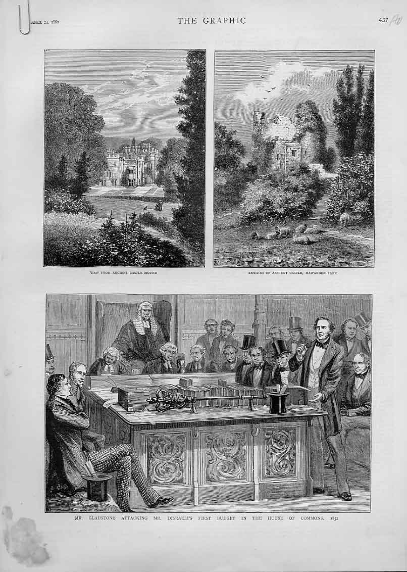 Print Gladstone And His Family 1880 37Abbb1 Old Original