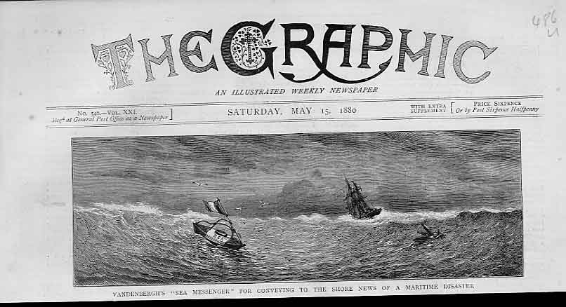 [Print Vandenburgh'S Sea Messenger For Maritime Disasters 1880 86Ubbb1 Old Original]