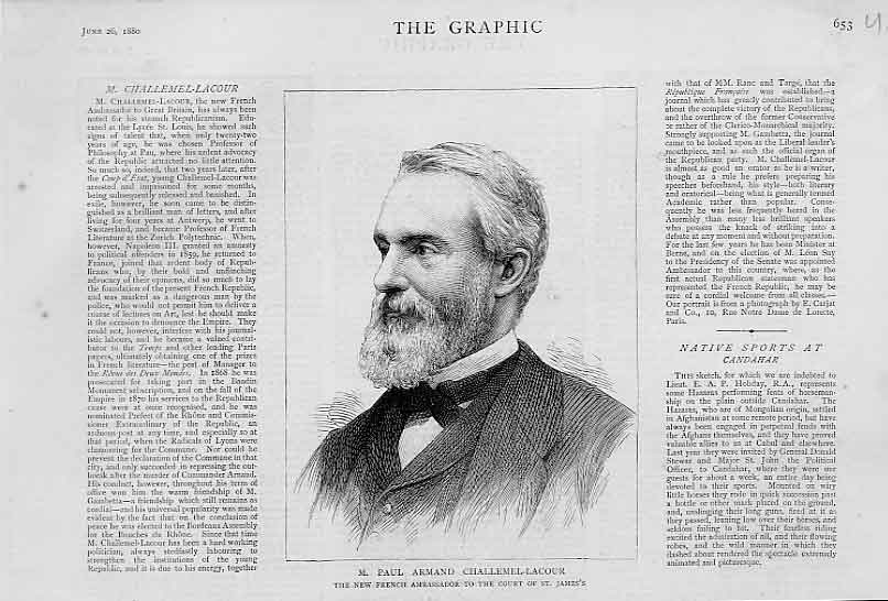 Print M Paularmand Challemel Lacour Portrait 1880 French Amba 53Ubbb1 Old Original