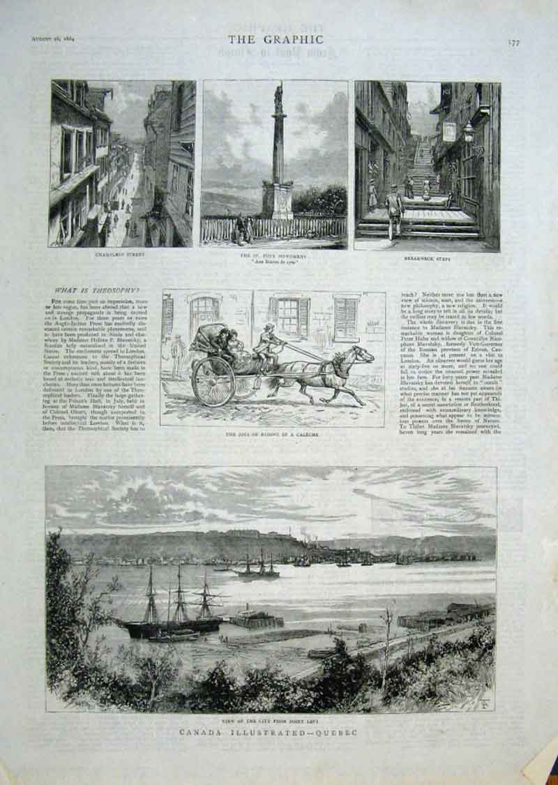 Print Canada Illustrated Note At Quebec 1884 77Bbb1 Old Original