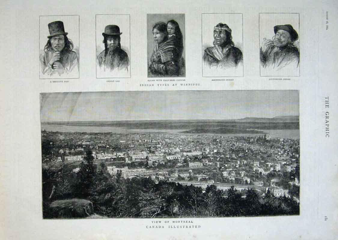 Print Canada Illustrated View Montreal 1884 81Bbb1 Old Original