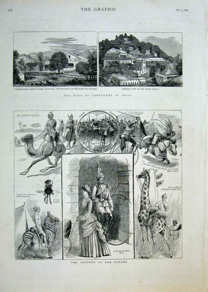 Print Duke Connaught In India Trooper The Future 1884 44Bbb1 Old Original