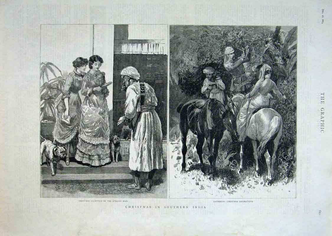 Print Christmas In Southern India 1884 61Bbb1 Old Original