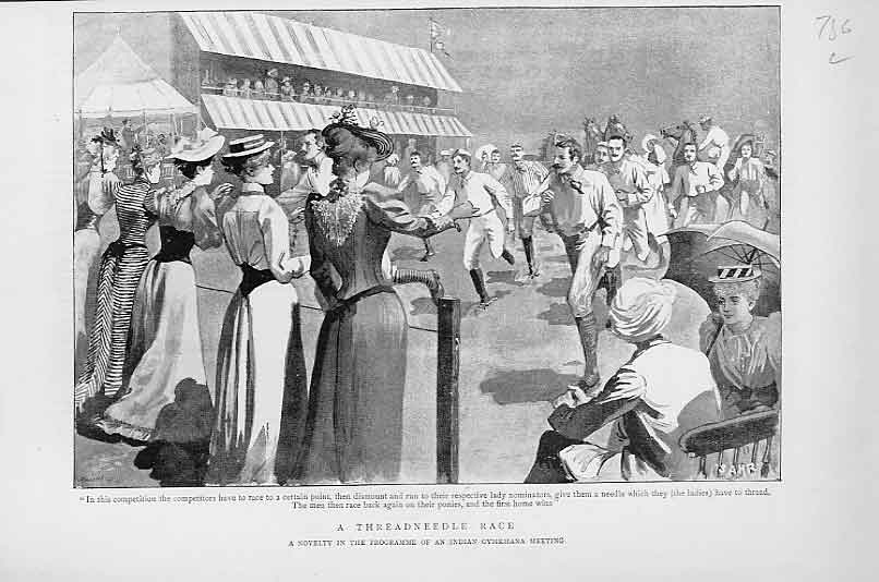 Print A Thread The Needle Race Indian Gymnkhana 18 36Lbbb1 Old Original