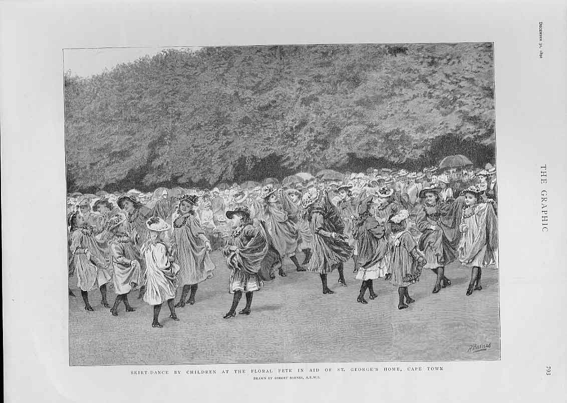 Print Skirt Dance By Children For St Georges Cape Town 1892 93Bbb1 Old Original