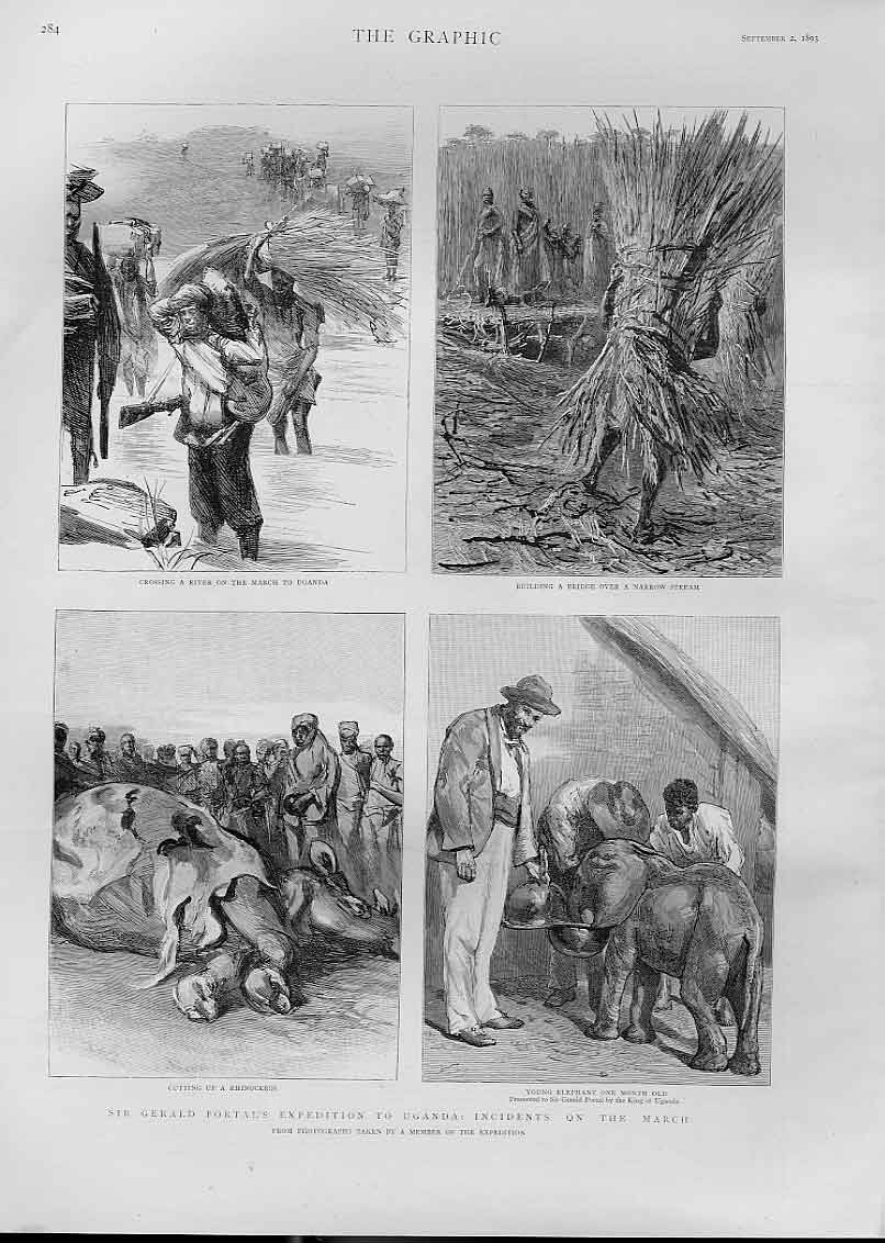 [Print Portal'S Expedition To Uganda 1893 Africa 84Bbb1 Old Original]