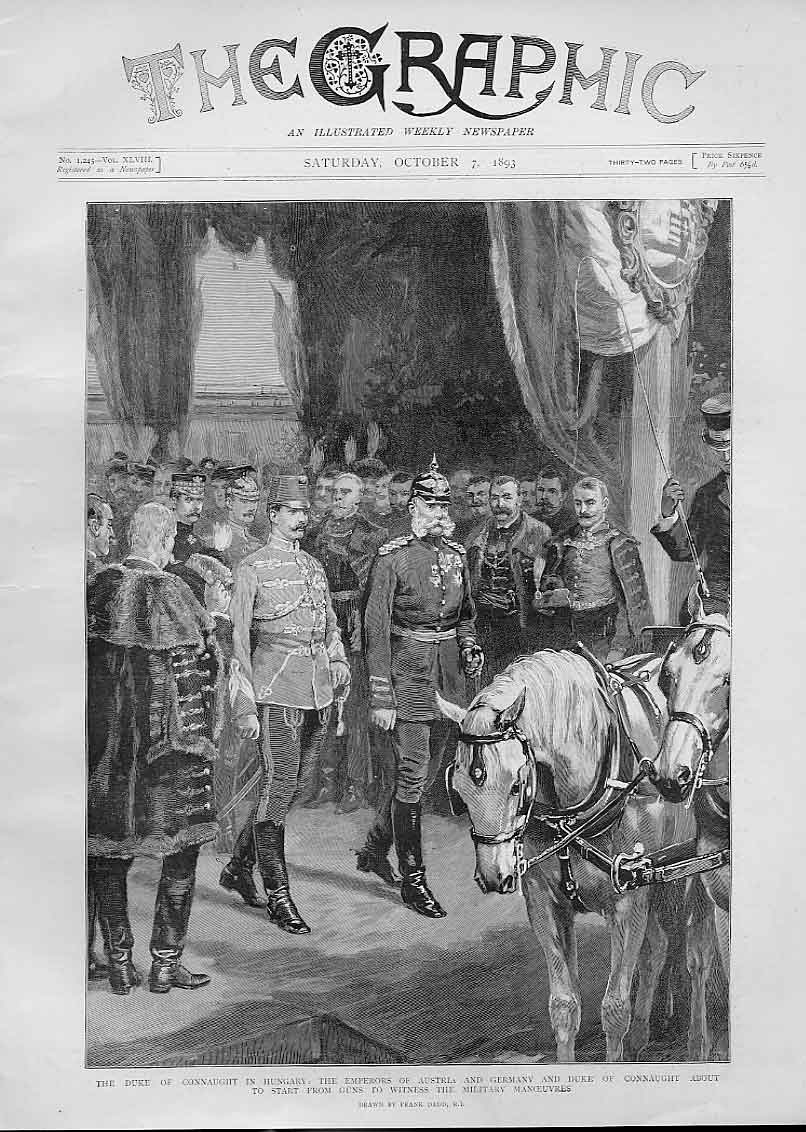 Print Duke Connaught In Hungary Emperors Austria & Germany 34Bbb1 Old Original