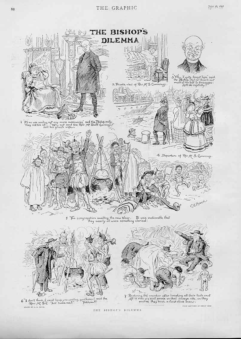 Print The Bishops Delemma 1896 88Bbb1 Old Original