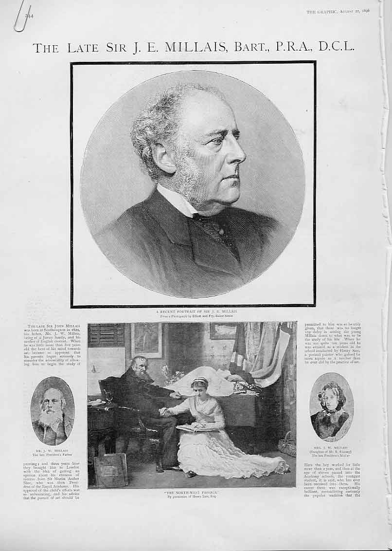 Print Sir J E Millais Life & Art 1896 44Abbb1 Old Original