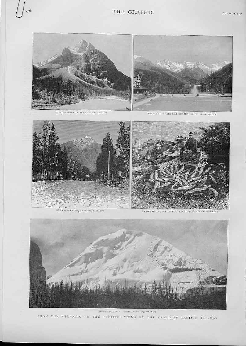 Print Atlantic To Pacific Views Canadian Pacific Railway 1896 76Abbb1 Old Original