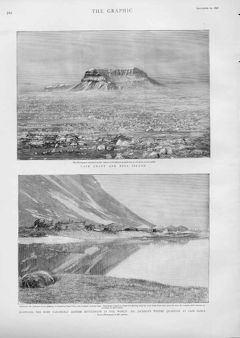 Print Cape Grant Bell Island Elmwood Cape Flora Artic 1896 24Bbb1 Old Original
