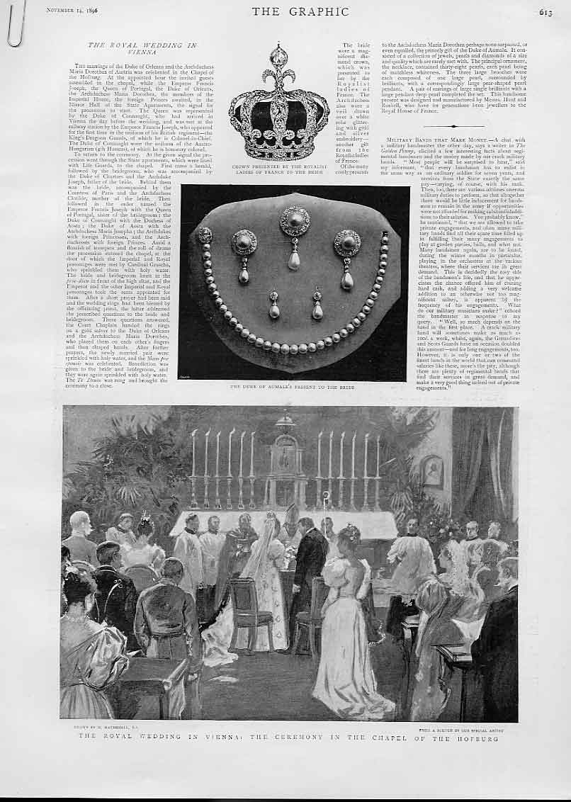 [Print Royal Wedding In Vennia Austria 1896 13Abbb1 Old Original]