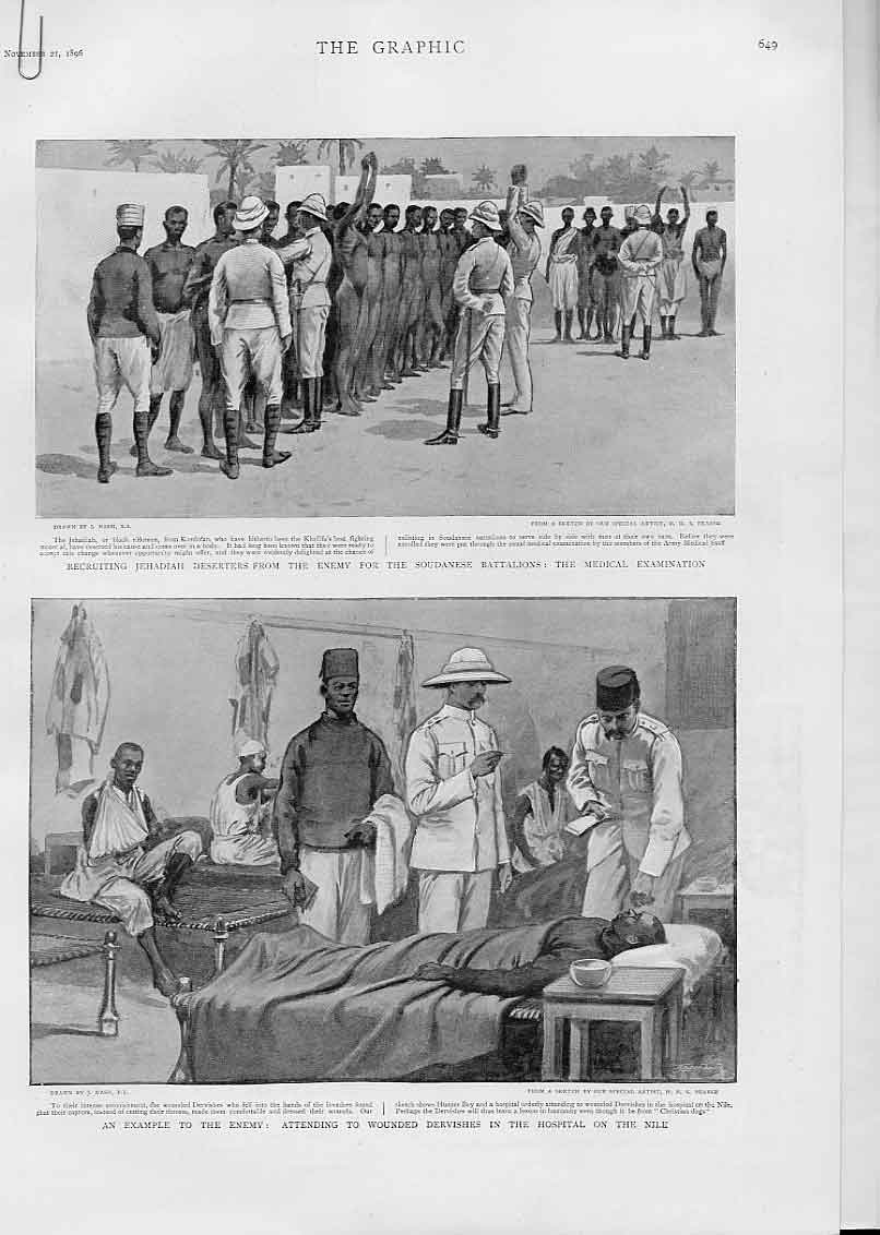 Print Medical Examinations & Hospital On The Nile 1896 49Abbb1 Old Original