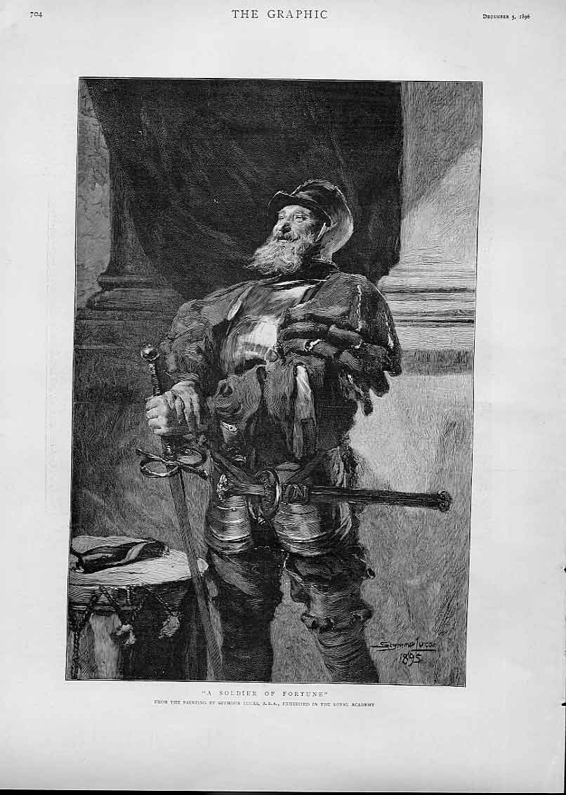 Print Soldier Fortune By Lucas 1896 04Bbb1 Old Original