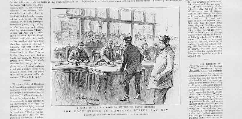 [Print Dock Strike Hamburg Strike Pay Day Germany 1896 83Bbb1 Old Original]