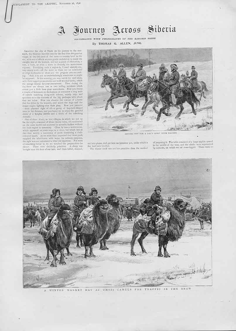 Print Across Siberia 2 Doubl;E Page 16 Images 1896 42Abbb1 Old Original