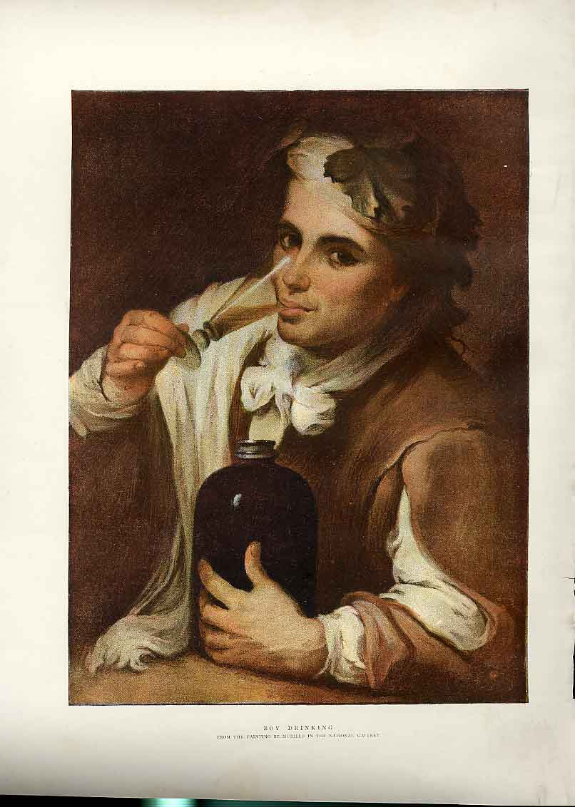 Print Boy Drinking By Murillo Fine Art 1896 30Bbb1 Old Original
