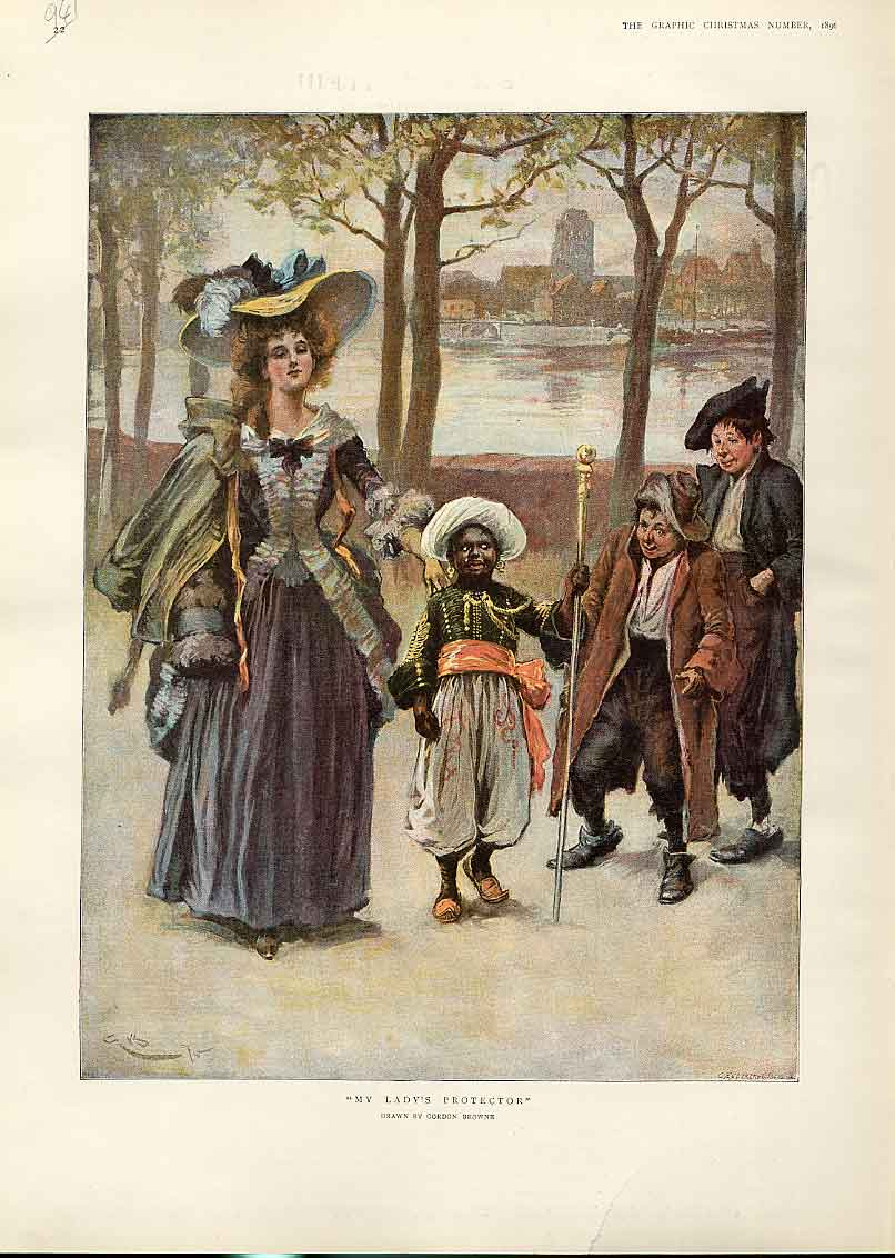 Print My Lady'S Protector By Browme Fine Art 41Bbb1 Old Original