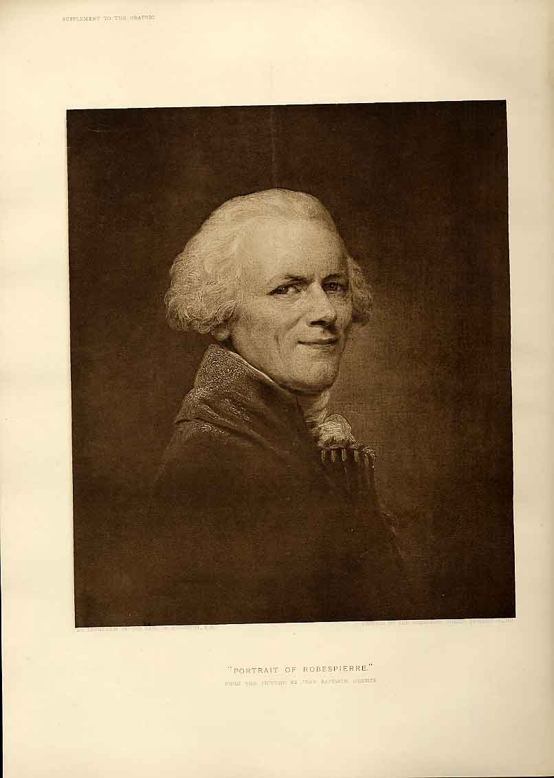 Print Portrait Rbespierre By Oreuze Fine Art 47Bbb1 Old Original
