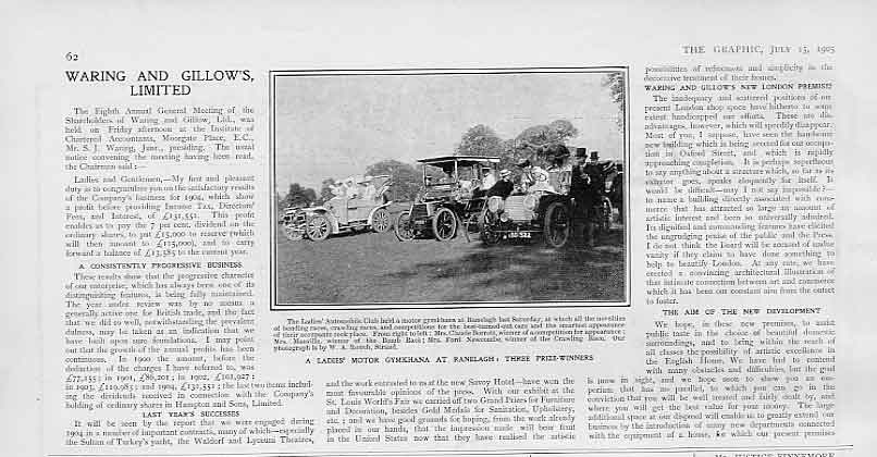 Print Ladies Motor Gymnkhana Ranliegh 1905 Cars 62Bbb1 Old Original