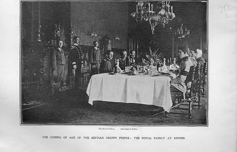 Print Dinnerto Celebrate Coming Age Crown Prince Servia 52Lbbb1 Old Original