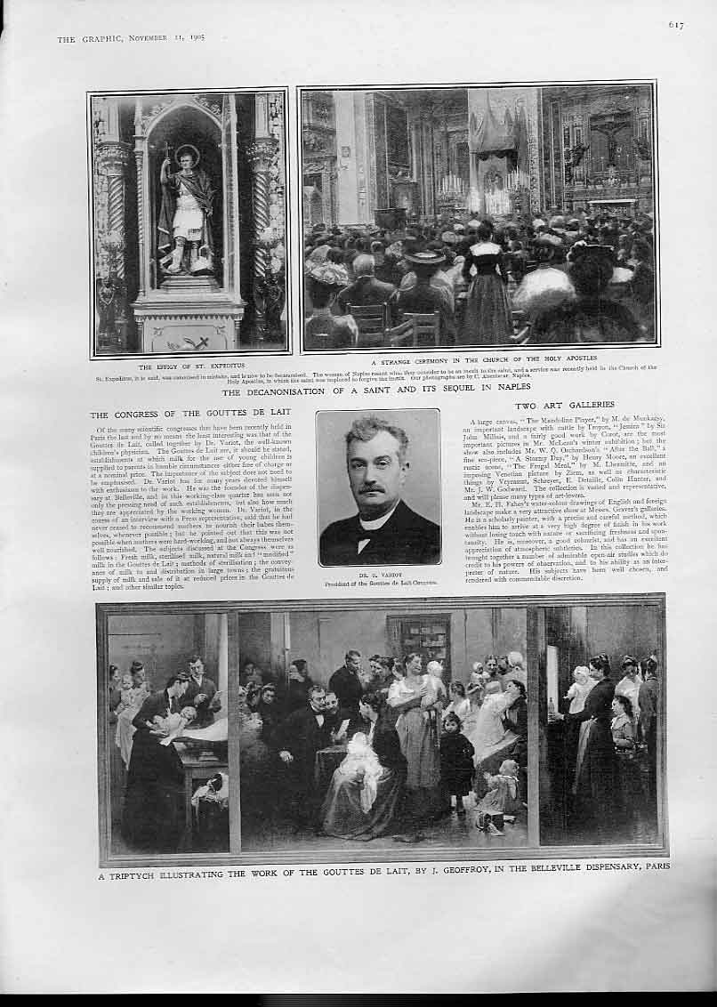 Print Decanonisation Saint In Naples Italy 1905 17Bbb1 Old Original