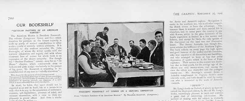 Print President Rooseveldt At Dinner Hunting Expedition 1905 00Bbb1 Old Original